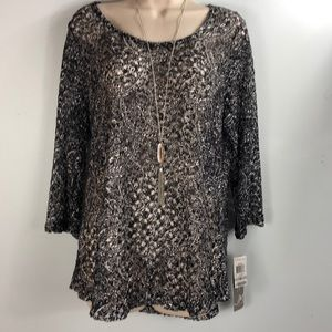 J M collection NWTS blouse women's size 1x.